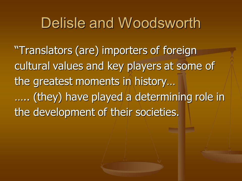 Delisle and Woodsworth