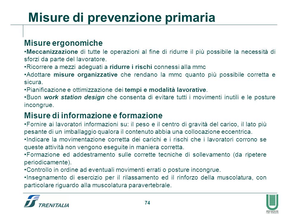 Misure di prevenzione primaria