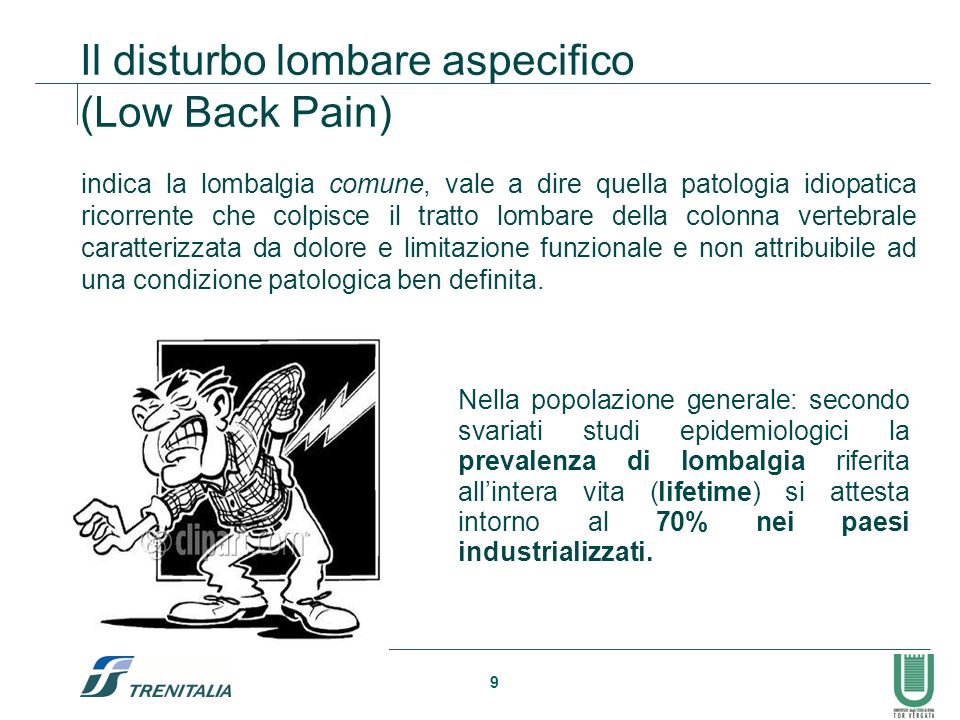 Il disturbo lombare aspecifico (Low Back Pain)