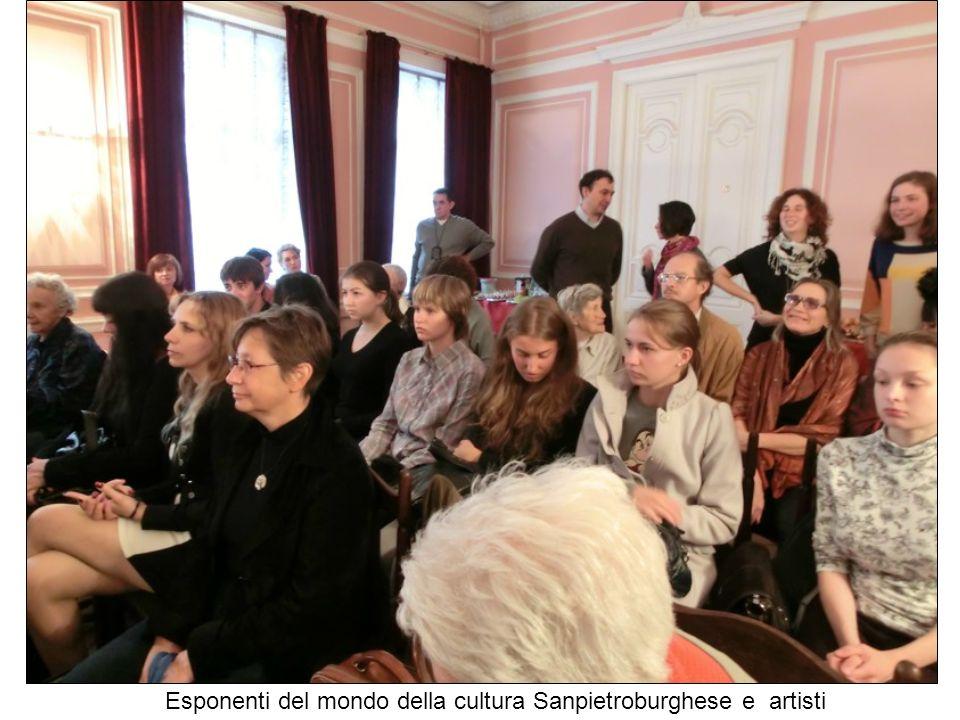 Esponenti del mondo della cultura Sanpietroburghese e artisti