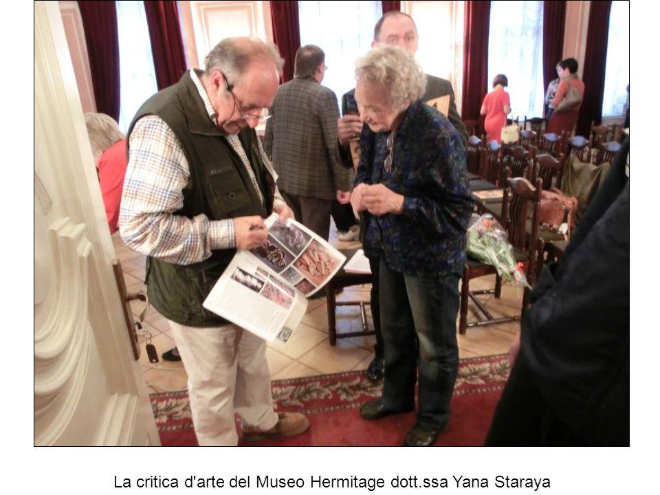 La critica d arte del Museo Hermitage dott.ssa Yana Staraya