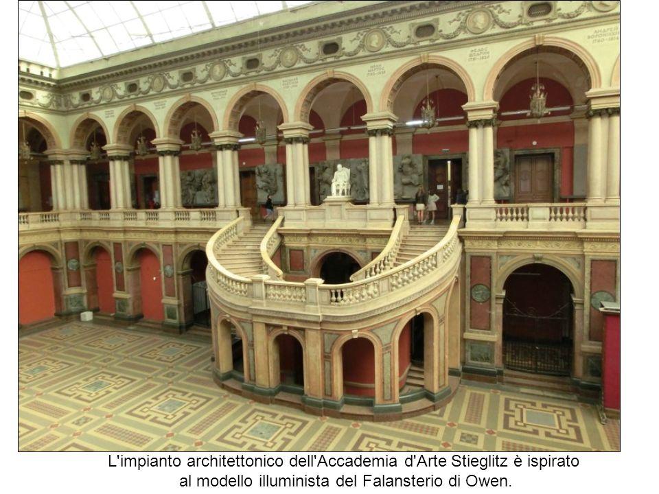 L impianto architettonico dell Accademia d Arte Stieglitz è ispirato