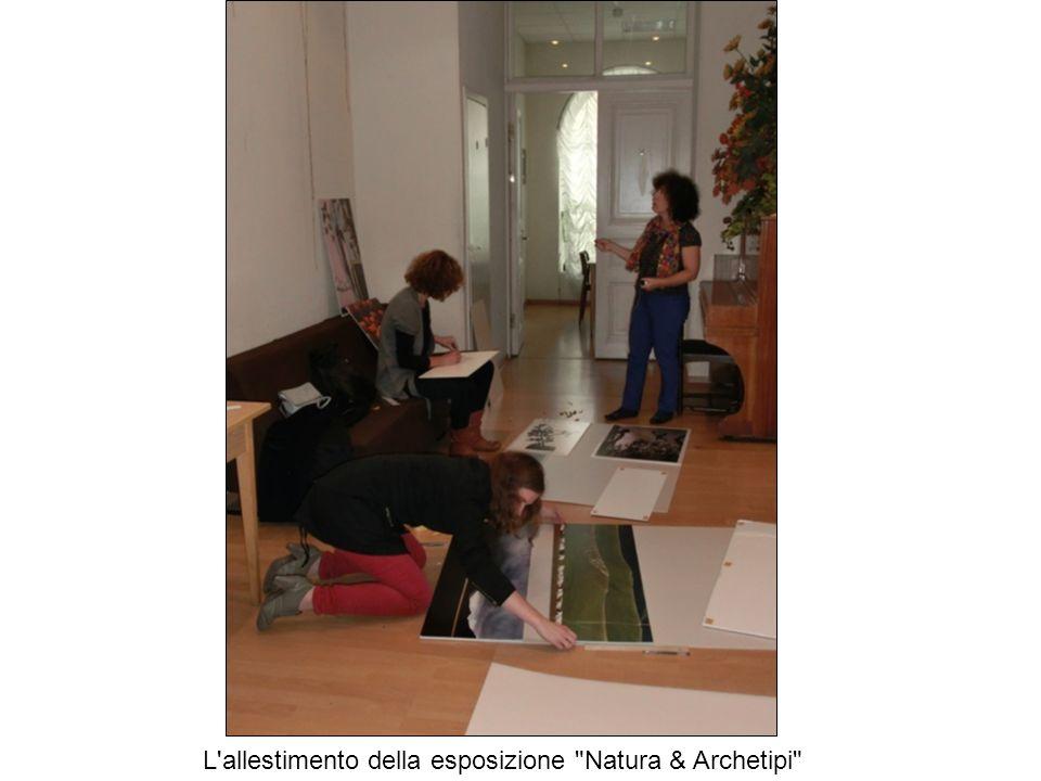 L allestimento della esposizione Natura & Archetipi