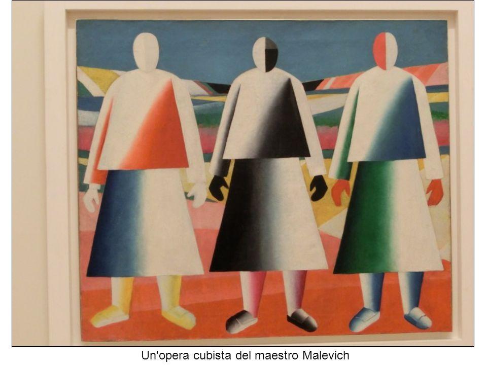 Un opera cubista del maestro Malevich