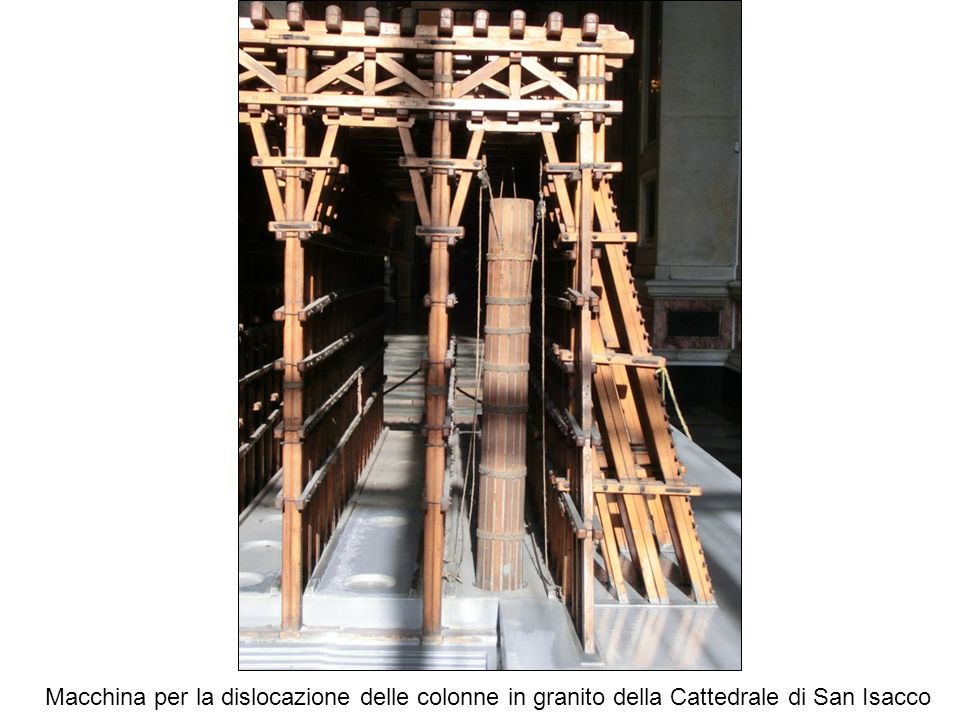 Macchina per la dislocazione delle colonne in granito della Cattedrale di San Isacco