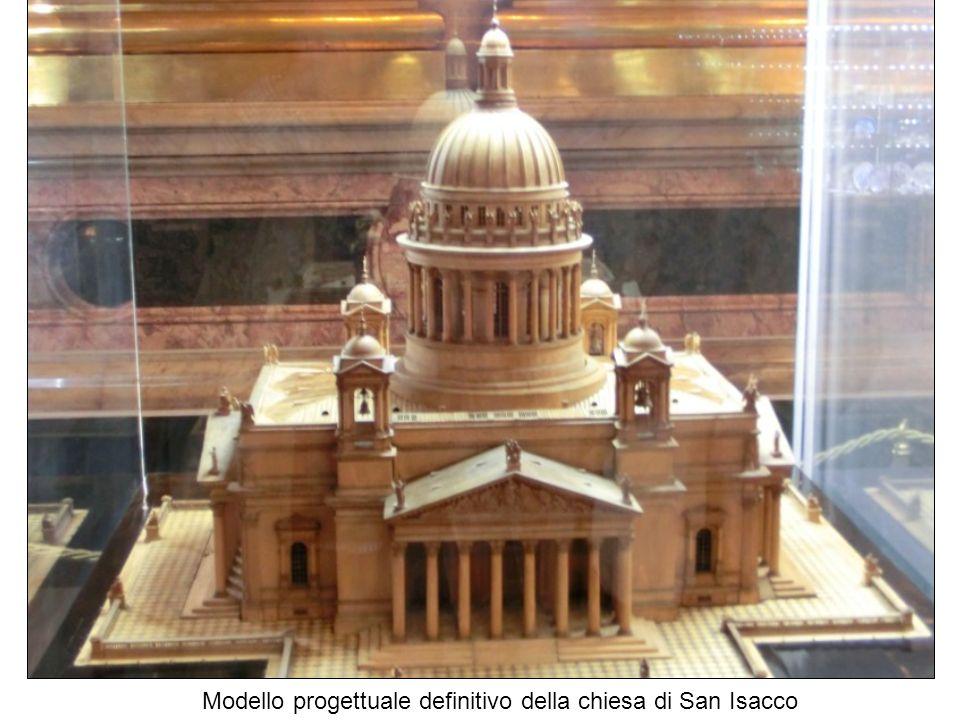 Modello progettuale definitivo della chiesa di San Isacco