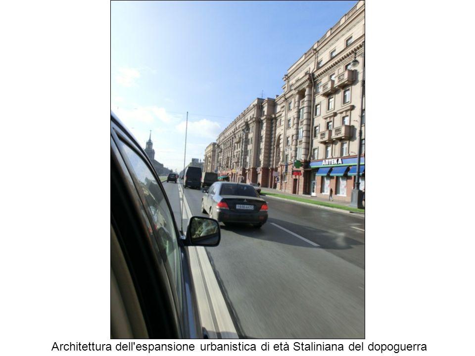 Architettura dell espansione urbanistica di età Staliniana del dopoguerra