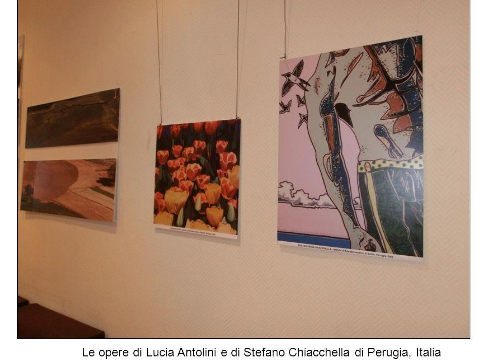 Le opere di Lucia Antolini e di Stefano Chiacchella di Perugia, Italia