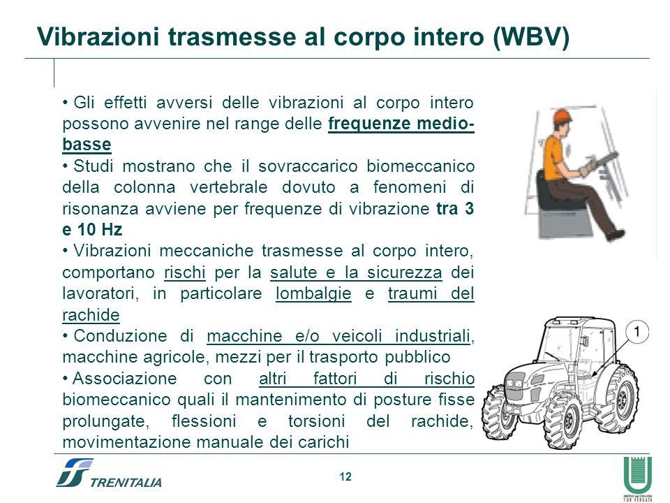 Vibrazioni trasmesse al corpo intero (WBV)