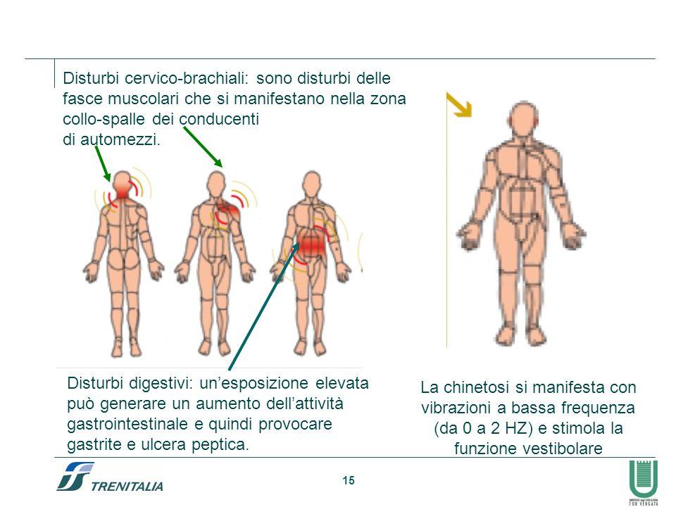 Disturbi cervico-brachiali: sono disturbi delle fasce muscolari che si manifestano nella zona collo-spalle dei conducenti