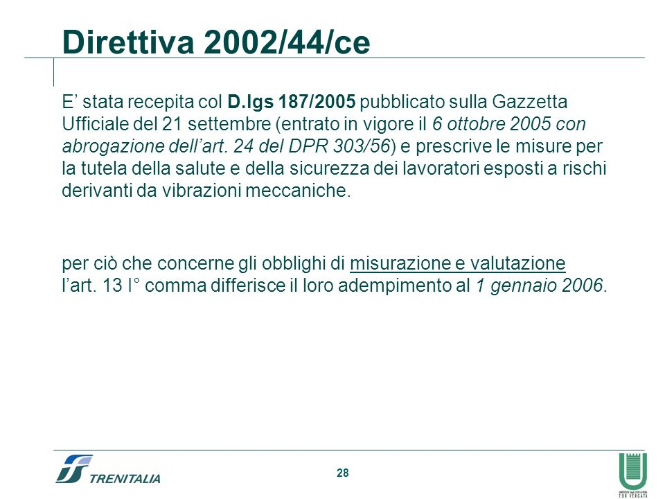 Direttiva 2002/44/ce