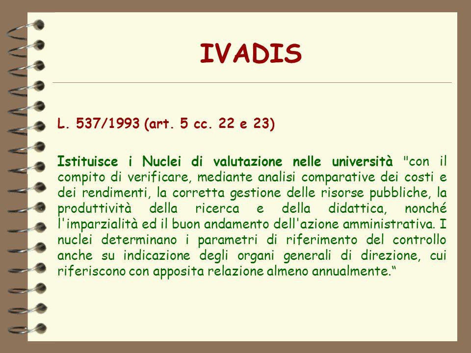 IVADIS L. 537/1993 (art. 5 cc. 22 e 23)