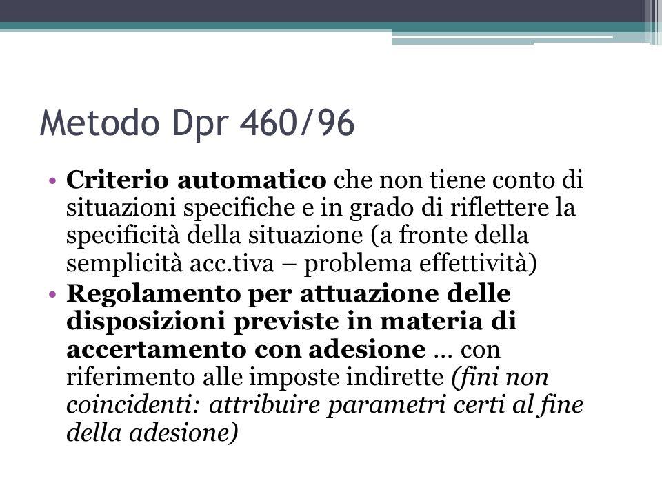 Metodo Dpr 460/96