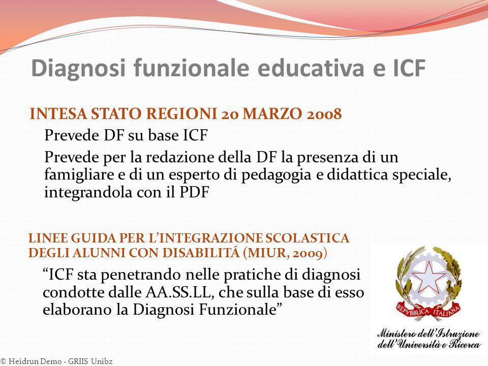 Diagnosi funzionale educativa e ICF