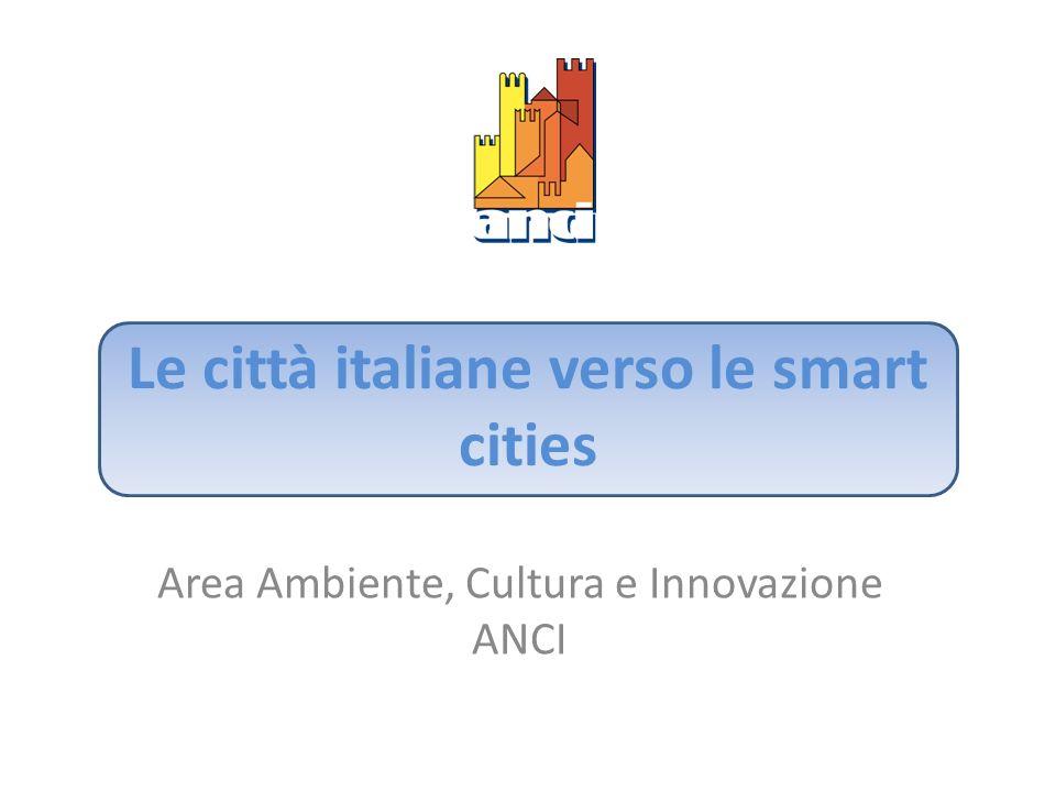 Le città italiane verso le smart cities