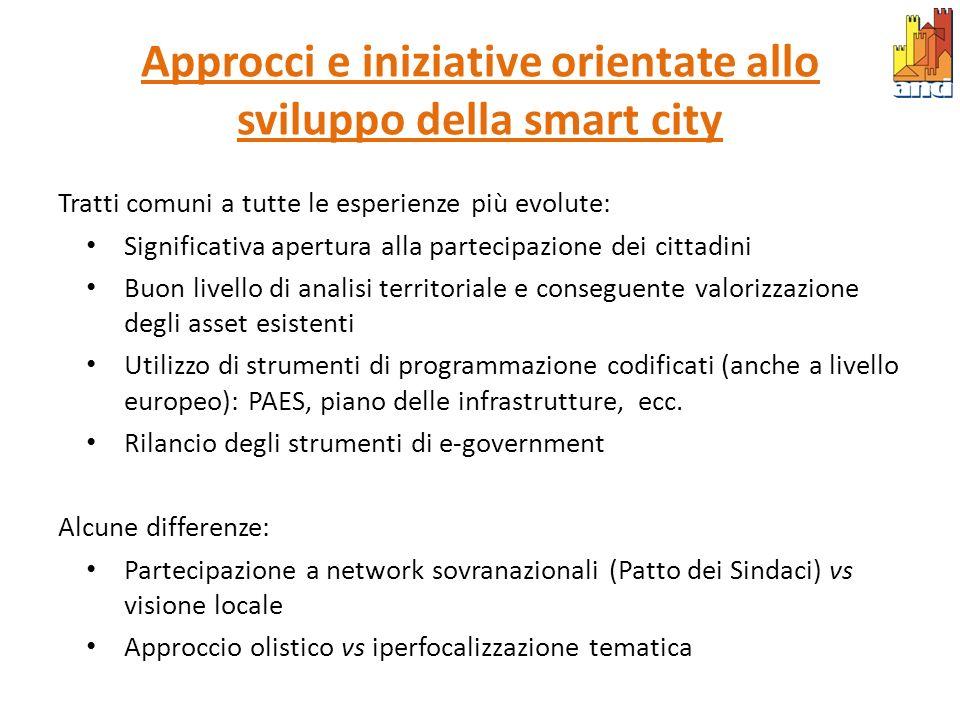 Approcci e iniziative orientate allo sviluppo della smart city