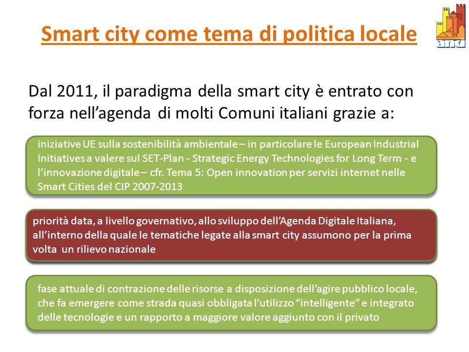 Smart city come tema di politica locale