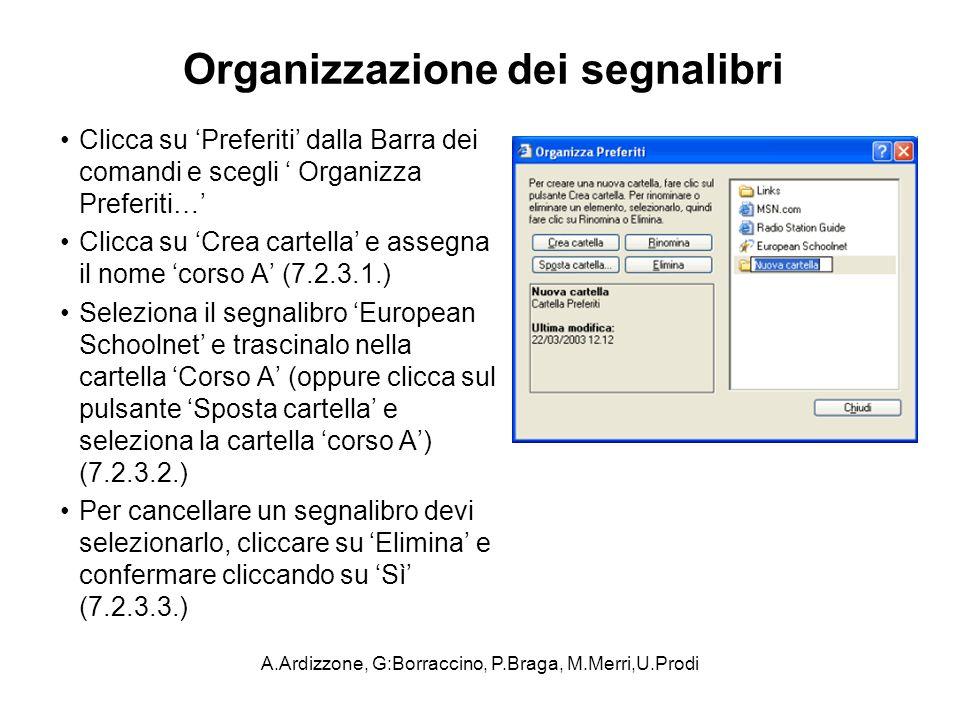 Organizzazione dei segnalibri