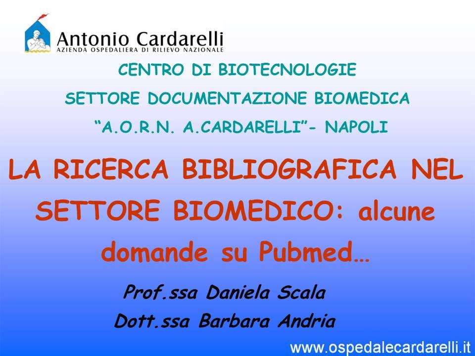 CENTRO DI BIOTECNOLOGIE