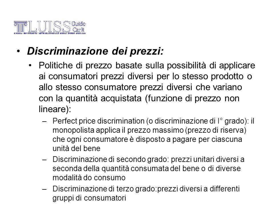 Discriminazione dei prezzi: