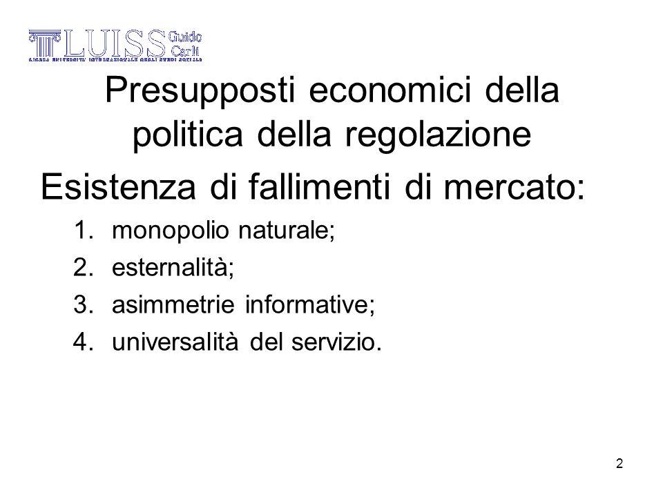 Presupposti economici della politica della regolazione