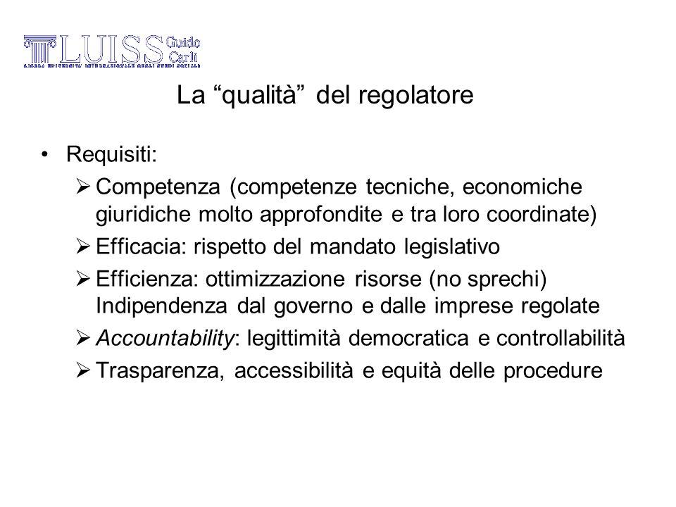 La qualità del regolatore