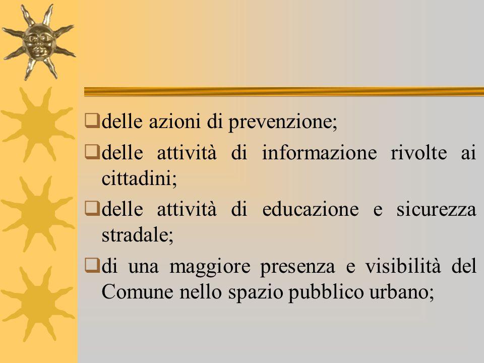 delle azioni di prevenzione;