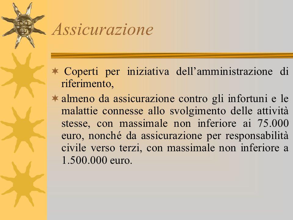 Assicurazione Coperti per iniziativa dell'amministrazione di riferimento,