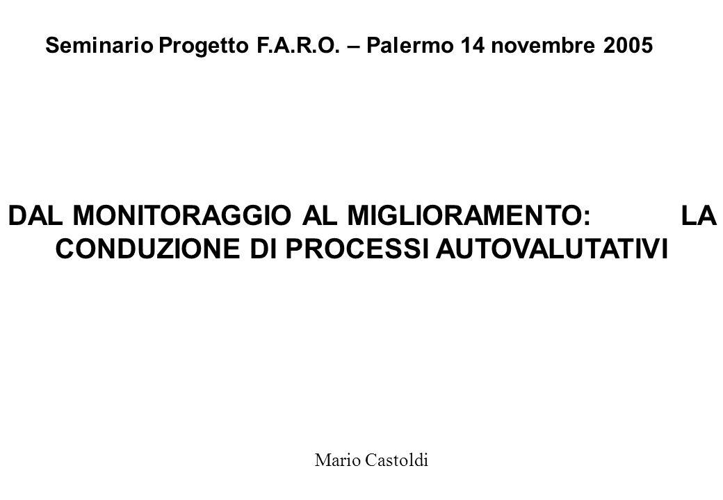 Seminario Progetto F.A.R.O. – Palermo 14 novembre 2005