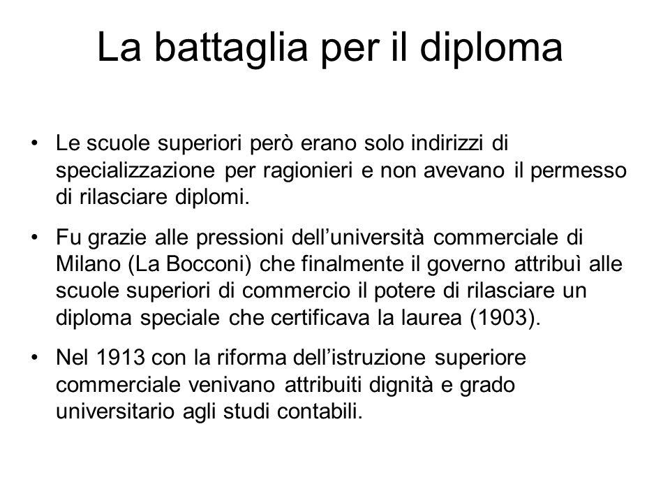 La battaglia per il diploma