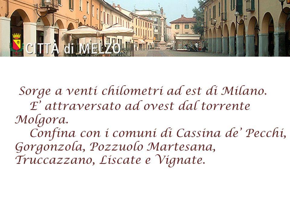 Sorge a venti chilometri ad est di Milano.