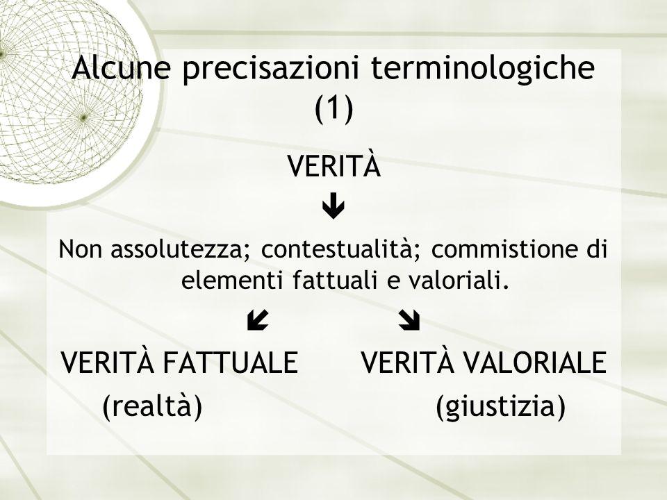 Alcune precisazioni terminologiche (1)