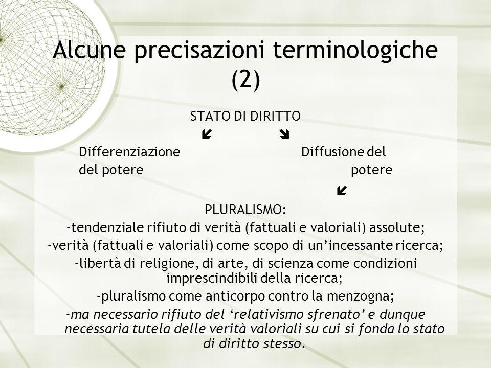 Alcune precisazioni terminologiche (2)