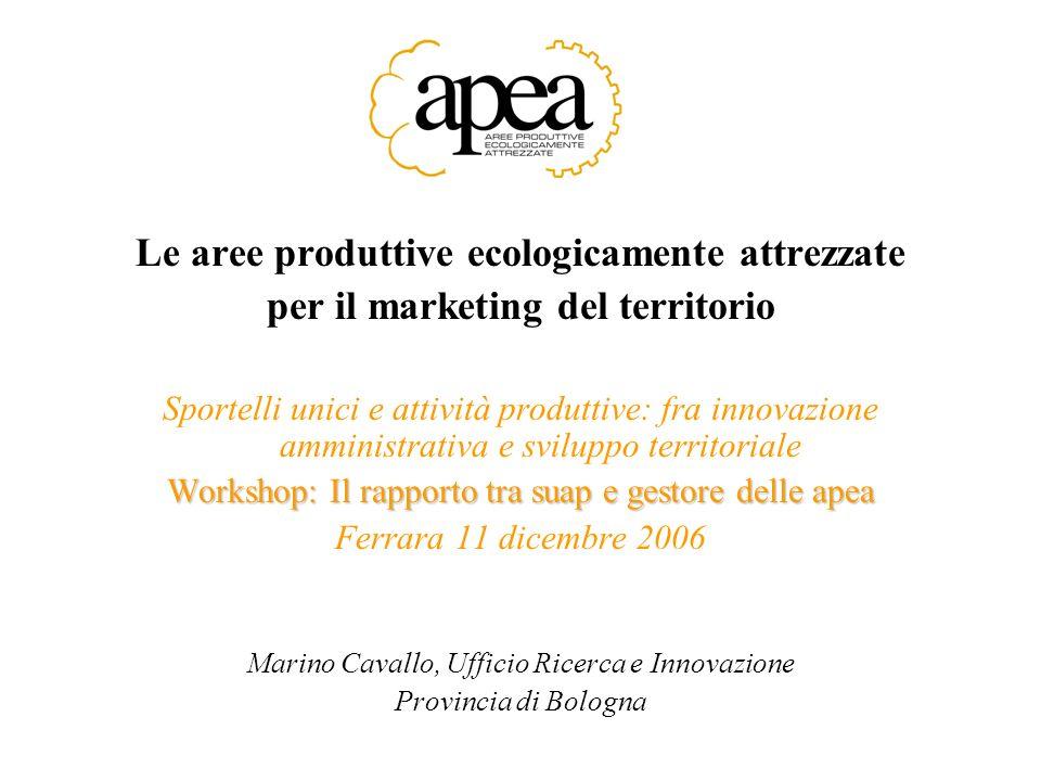 Le aree produttive ecologicamente attrezzate