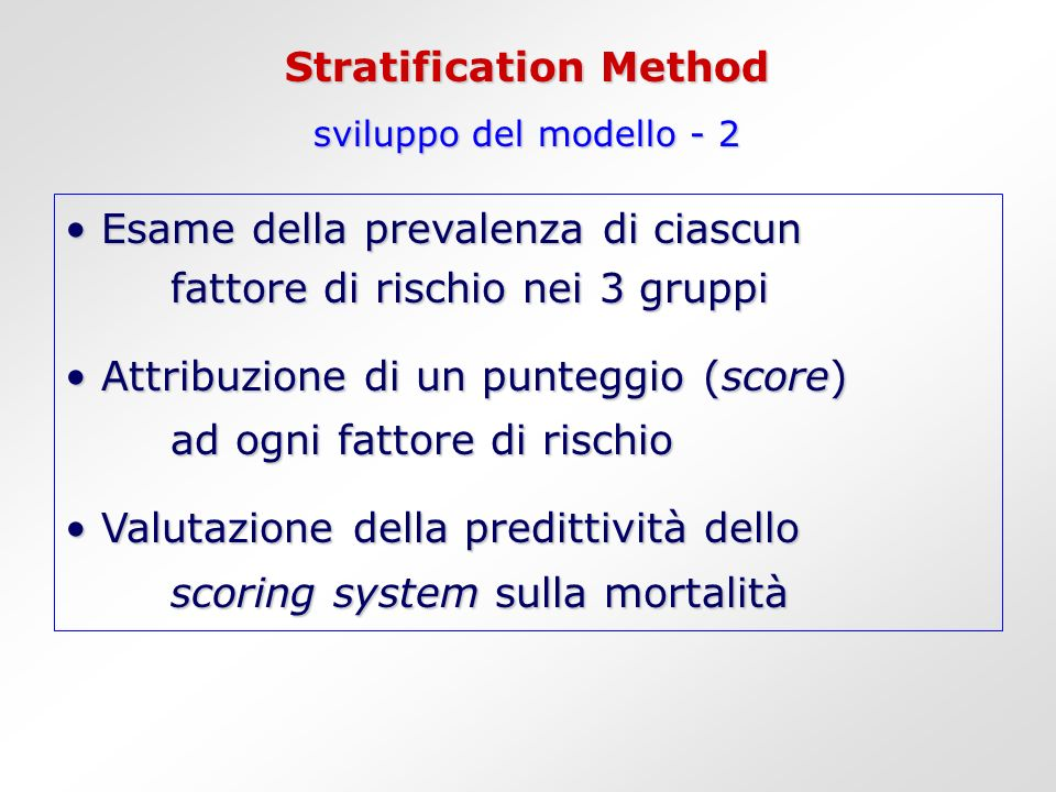Stratification Method