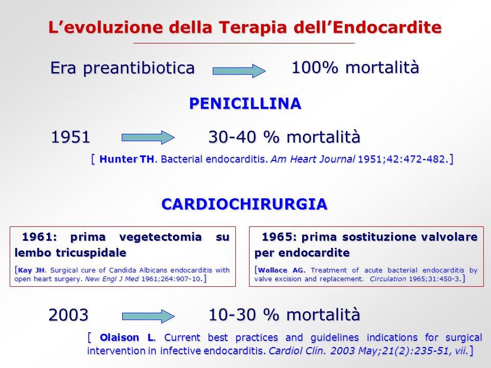 L'evoluzione della Terapia dell'Endocardite