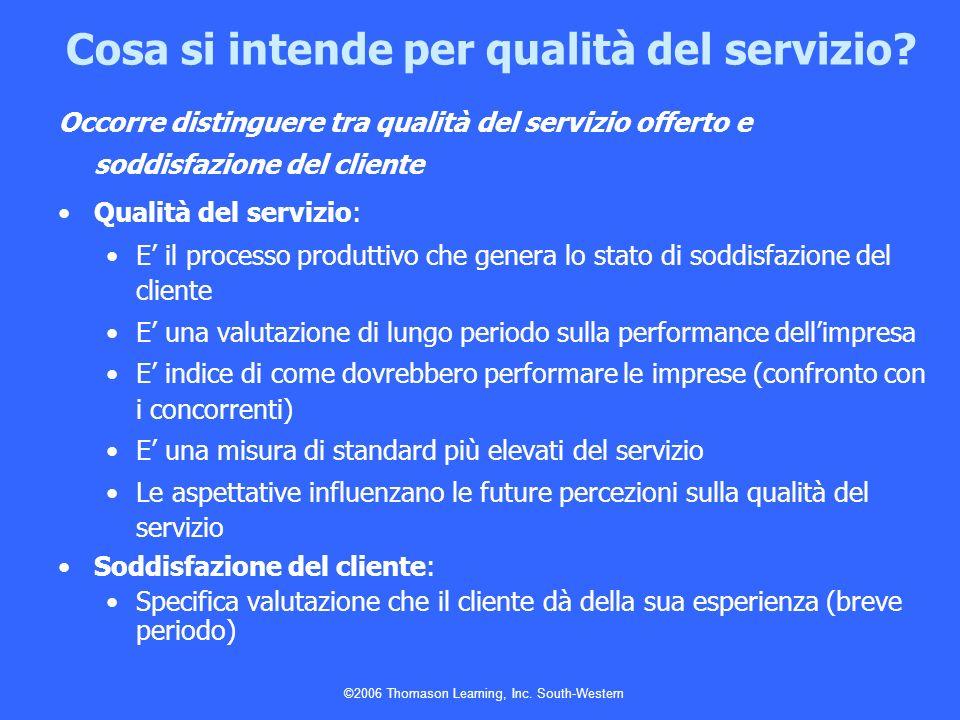 Cosa si intende per qualità del servizio