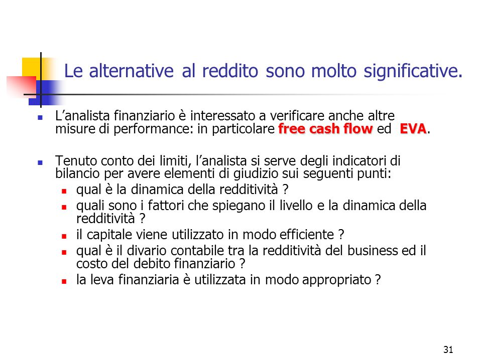 Le alternative al reddito sono molto significative.