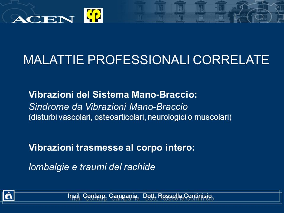 MALATTIE PROFESSIONALI CORRELATE