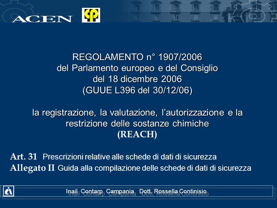 del Parlamento europeo e del Consiglio del 18 dicembre 2006
