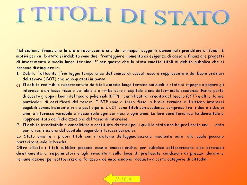 I TITOLI DI STATO BACK