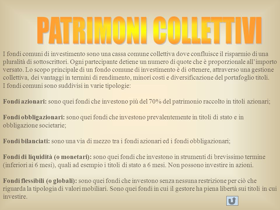 PATRIMONI COLLETTIVI