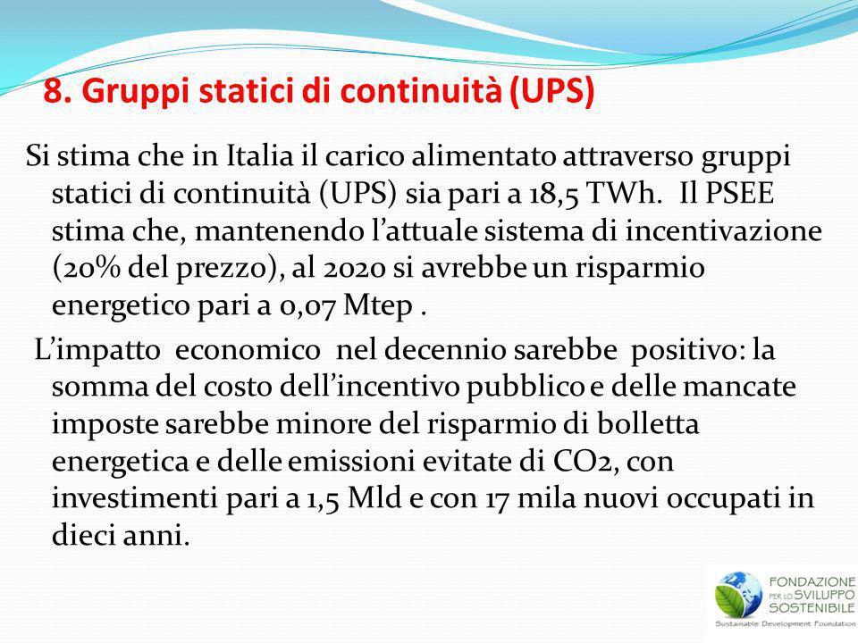8. Gruppi statici di continuità (UPS)