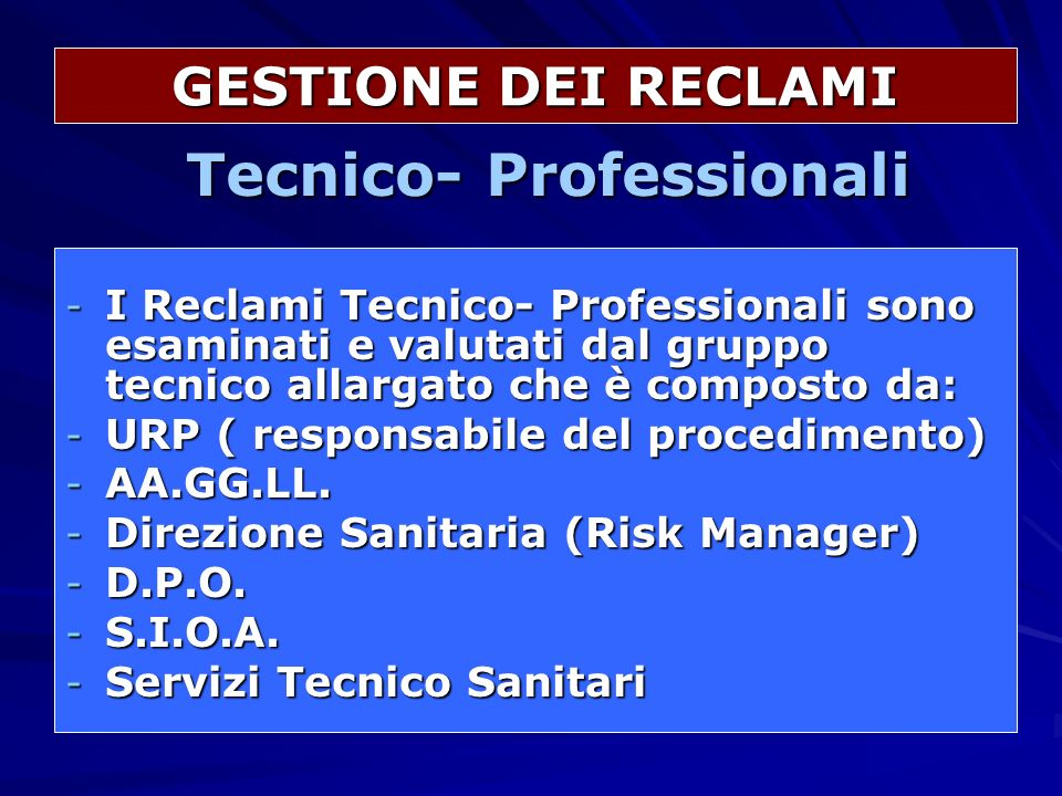 Tecnico- Professionali