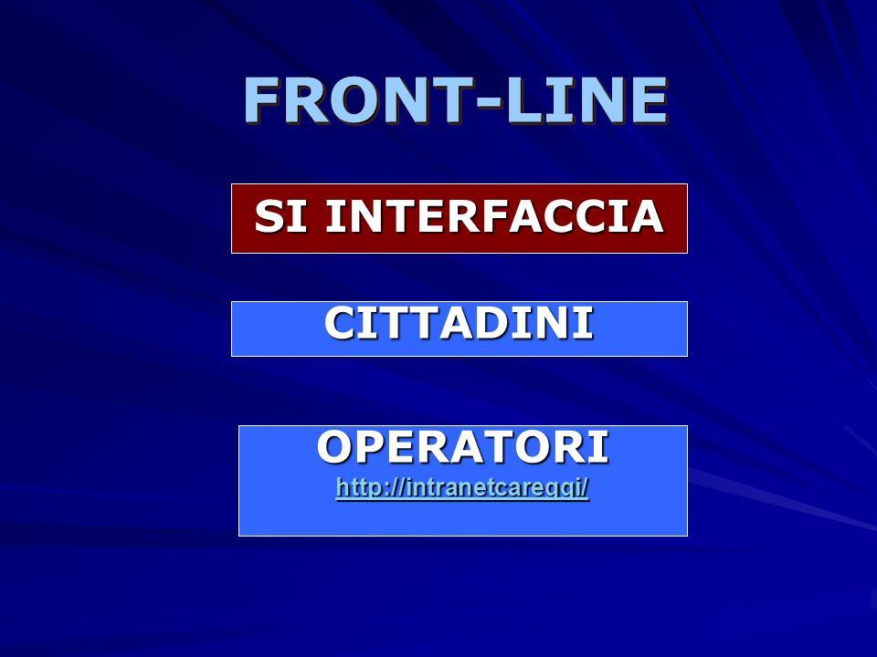 FRONT-LINE SI INTERFACCIA CITTADINI OPERATORI http://intranetcareggi/