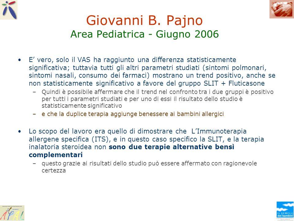 Giovanni B. Pajno Area Pediatrica - Giugno 2006