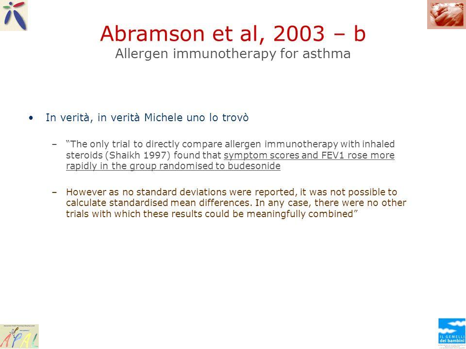 Abramson et al, 2003 – b Allergen immunotherapy for asthma