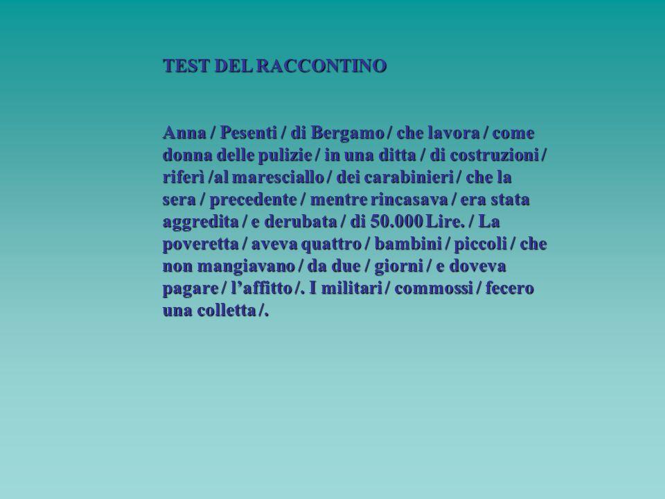 TEST DEL RACCONTINO