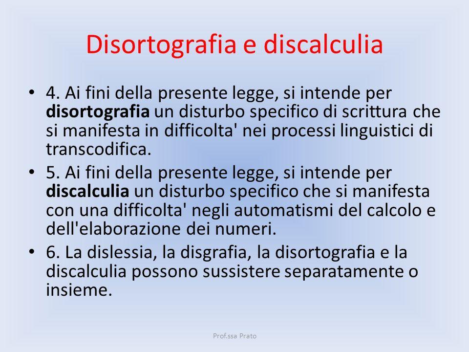 Disortografia e discalculia