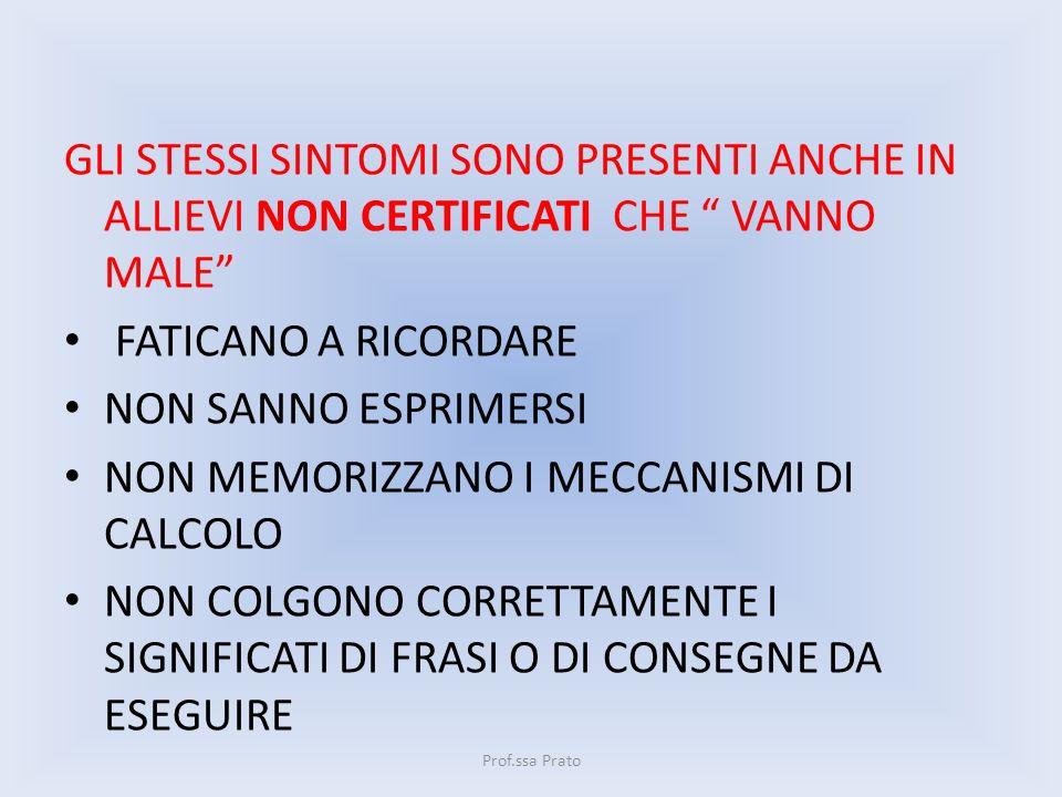 NON MEMORIZZANO I MECCANISMI DI CALCOLO